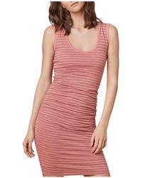 Velvet By Graham & Spencer - Genisa Striped Ruched Tank Dress - Lyst