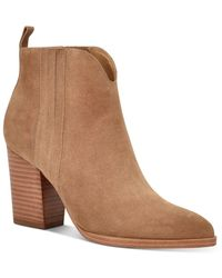 Marc Fisher Women's Annabel Pointed Toe High Heel Booties - Brown