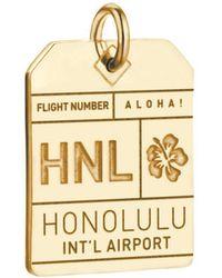 Jet Set Candy Hnl Honolulu Luggage Tag Charm - Metallic