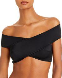 OYE Swimwear Lucette Off The Shoulder Bikini Top - Black