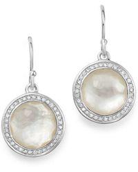 Ippolita - Sterling Silver Lollipop Diamond & Mother - Of - Pearl Doublet Drop Earrings - Lyst