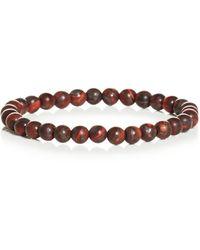Link Up Matte Tiger's Eye Bead Bracelet - Red