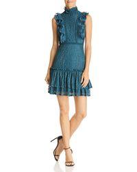 Aqua - Tiered Ruffled Lace Dress - Lyst