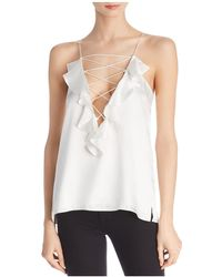 Cami NYC - Charlie Ruffled Silk V-back Top - Lyst