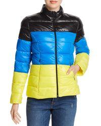 Aqua Packable Puffer Jacket - Multicolor