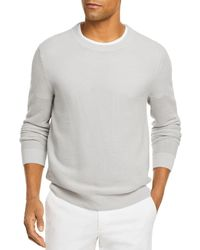 Bloomingdale's The Store At Bloomingdale's Cotton Crewneck Sweater - Gray