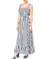Betsey Johnson - Striped Maxi Dress - Lyst
