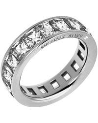 Michael Kors - Square Cut Cubic Zirconia Ring - Lyst