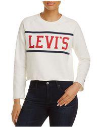 Levi's - Raw-edge Graphic Fleece Sweatshirt - Lyst