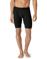 Tommy John Air Stretch Mesh Boxer Briefs - Black