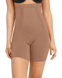 Spanx Oncore High - Waisted Mid - Thigh Shorts - Brown