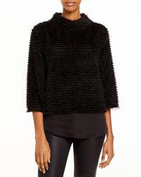 Vince Camuto Eyelash Sweater - Black