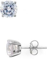 Aqua Stud Earrings - Metallic
