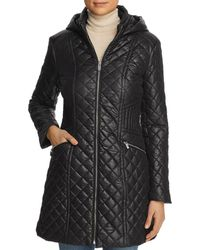 Via Spiga Quilted Coat - Black