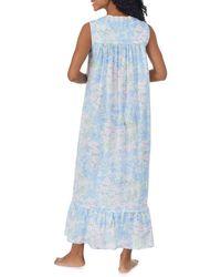 Eileen West Cotton Ballet Nightgown - Blue