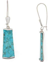 Robert Lee Morris Stone Drop Earrings - Multicolour