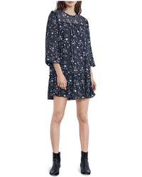 Velvet By Graham & Spencer   Taya Ruffled Star Print Dress   Lyst