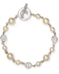 Carolee - Faux-pearl Fireball Illusion Bracelet - Lyst