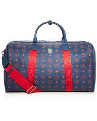 MCM Traveller Visetos Weekender Bag - Blue