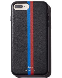 Clare V. - X Casetify Striped Leather Iphone 6/7/8 Plus Case - Lyst