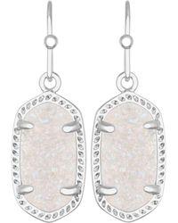 Kendra Scott Lee Agate Drop Earrings - Metallic