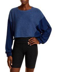 Free People Fp Movement By Surfside Dolman Sweatshirt - Blue