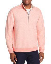 Tommy Bahama Flipsider Reversible Half - Zip Sweatshirt - Pink