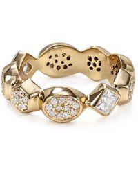 Melinda Maria Graham Stone Ring - Metallic