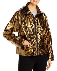 Yves Salomon Hooded Metallic Raincoat