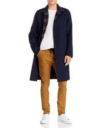 Rag & Bone Men's Brent Reversible Wool Coat - Blue