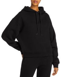 T By Alexander Wang Foundation Cotton Terry Hoodie - Black