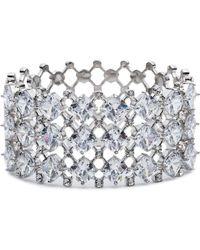Carolee | Silver-tone Crystal Hinged Cuff Bracelet | Lyst