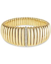 Hulchi Belluni - 18k Yellow Gold Tresore Diamond Graduated Banded Bracelet - Lyst