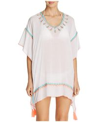 Surf Gypsy   Embroidered Poncho Swim Cover-up   Lyst