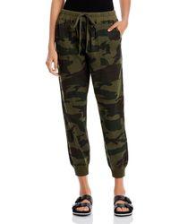 Aqua Woven Camouflage Sweatpants - Green