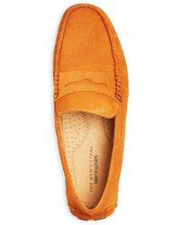 Bloomingdale's The Store At Bloomingdale's Penny Loafer Drivers - Orange
