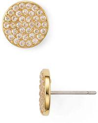 Kate Spade - Pavé Circle Earrings - Lyst