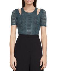 BCBGMAXAZRIA - Gwenyth Cutout Lace Bodysuit - Lyst