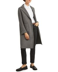 Gerard Darel Saly Reversible Wool Houndstooth Coat - Black