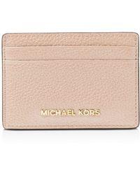 MICHAEL Michael Kors Money Pieces Leather Card Case - Pink