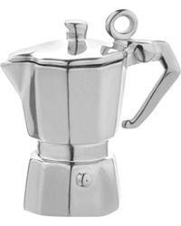Jet Set Candy Italian Espresso Pot Charm - Metallic
