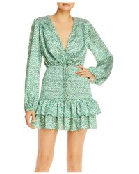 Significant Other Hedi Printed Smocked Dress - Green