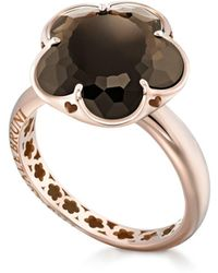 Pasquale Bruni | 18k Rose Gold Floral Smoky Quartz Ring | Lyst