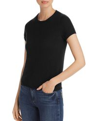 C By Bloomingdale's - Short - Sleeve Cashmere Sweater - Lyst