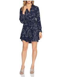 1.STATE - Floral-print Mini Shirt Dress - Lyst