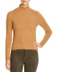 Vero Moda Fuzzy Mock Neck Jumper - Brown