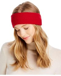 C By Bloomingdale's Waffle - Knit Cashmere Headband - Multicolour