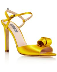 SJP by Sarah Jessica Parker Women's Ferry Satin Ankle Strap Sandals - Yellow