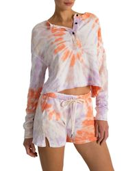 n:PHILANTHROPY Bee Tie Dyed Shorts - Multicolour