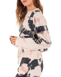 Pam & Gela Tie Dye Cropped Sweatshirt - Multicolour